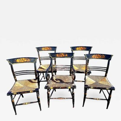 A Set of American Sheraton Fancy Dining Chairs New York circa 1815 1830