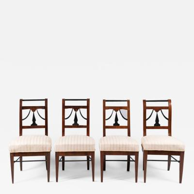 A Set of Four Biedermeier Chairs
