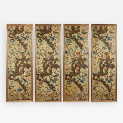 A Set of Four Piemonte Chinoserie Painted Panels