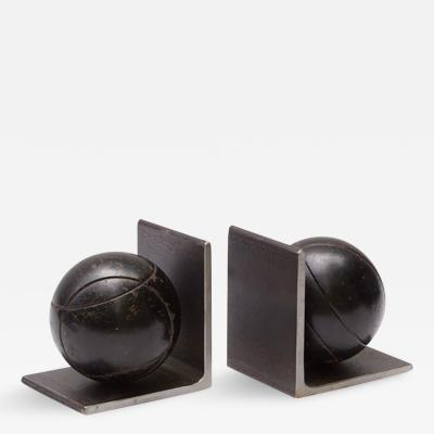 A Set of Metal Bocce Ball Bookends