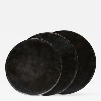 A Set of Three Black Graduated Bread Pans