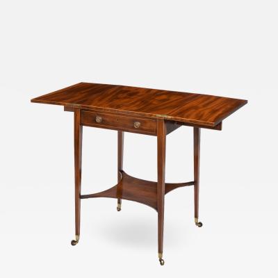 A Sheraton period George III mahogany patience table