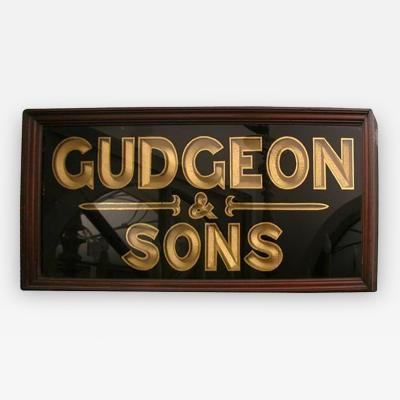 A Sign Reading Gudgeon Sons