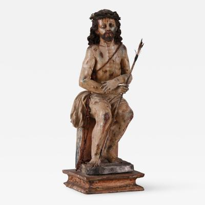 A Spanish Colonial Figure of Ecce Homo Audiencia de Quito 18th C
