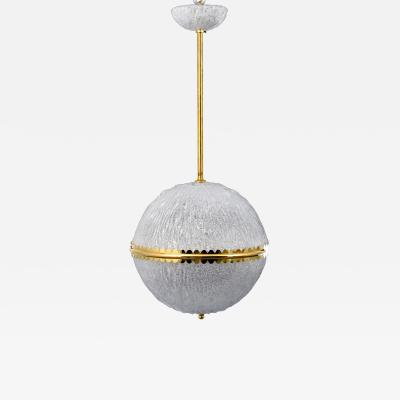 A Spherical Chandelier Manner of Barovier Toso 2 Available