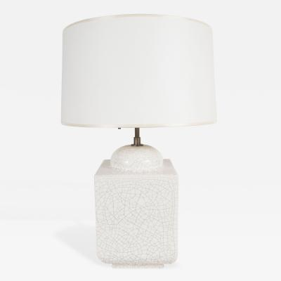 A Square Molded Ceramic Table Lamp