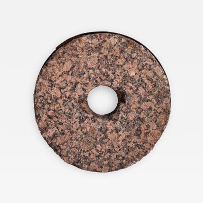 A Stone Wheel with Metal Band