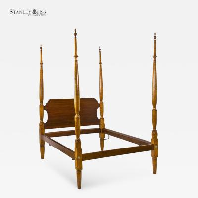 A Strongly Figured Tiger Maple Tall Post Bed Early 19th century
