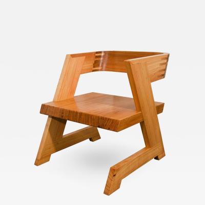 A Studio School Inspired Cypress Zig Zag Low Chair