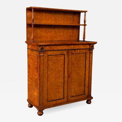 A Superb Quality Regency Burr Elm Chiffonier Cabinet by William Trotter