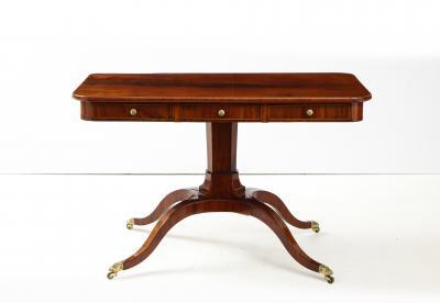A Swedish Empire Mahogany Sofa Table Circa 1820s
