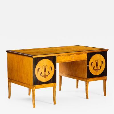 A Swedish Grace Pedestal Desk Circa 1930 40