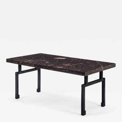 A Swedish Porphyry Table Top Now a Coffee Table