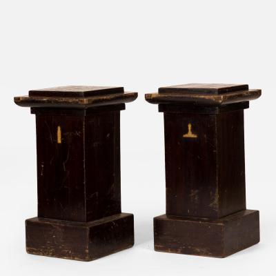 A Tall Masonic Plinth or Pedestal Stand with Unfolding Desktop