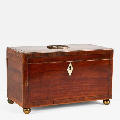 A Tea Caddy Box in Mahogany