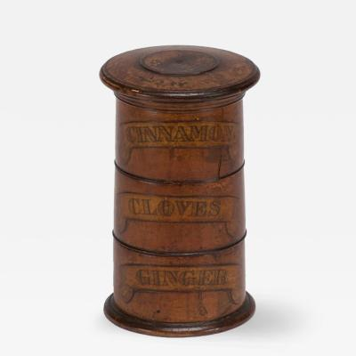 A Three Tiered Wooden Spice Tower