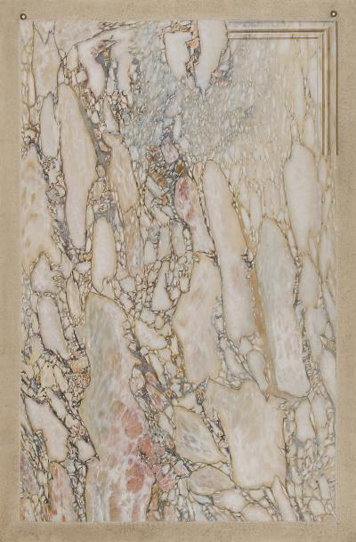 A Trompe Loeil Painting Simulating Breccia Di Settebasi
