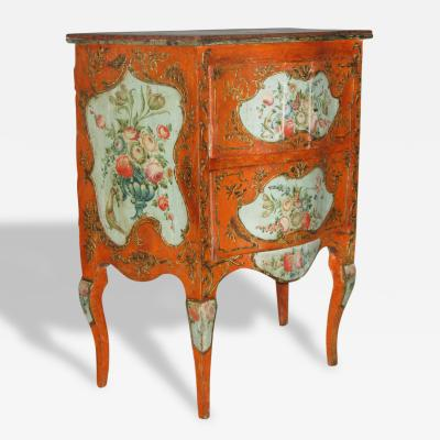 A Two Drawer Sicilian Lacquered Chest