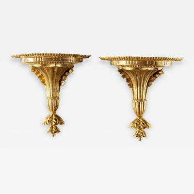 A Very Fine Pair of Georgian Giltwood Wall Brackets