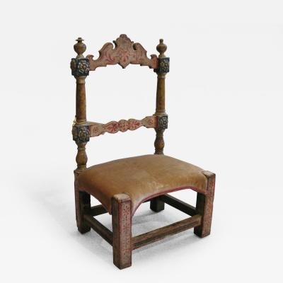A Very Rare Wooden Catalonian Child s Chair