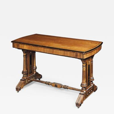 A Victorian library table by Gillows