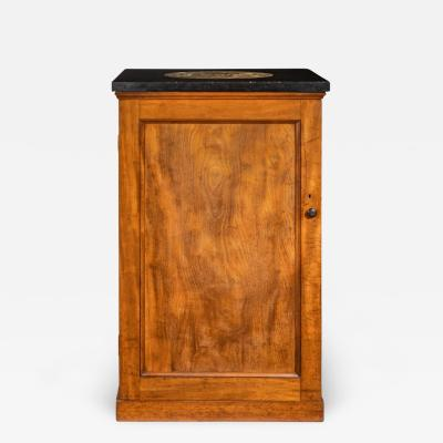 A Victorian mahogany collector s cabinet with a fossil marble top