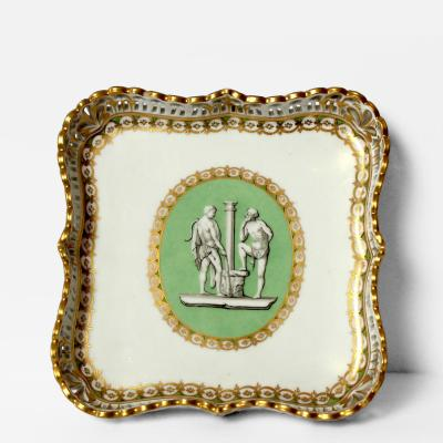 A Vienna Porcelain Small Square Tray Circa 1790