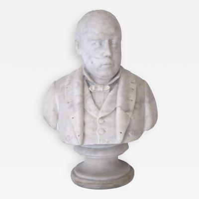 A Well Carved American Carrara Marble Bust of Robert G Ingersoll