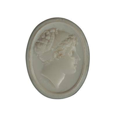 A White Vitreous Paste Cameo of Emma Lady Hamilton