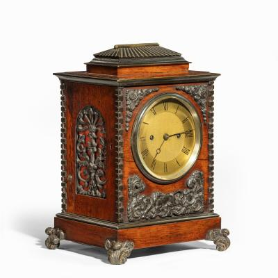 A William IV rosewood and bronze bracket clock by Frodsham 185 Baker