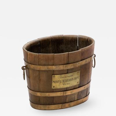 A Wooden Champagne Bucket