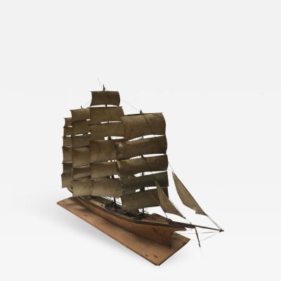 A Wooden Ship Model