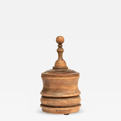 A Wooden Tobacco Jar
