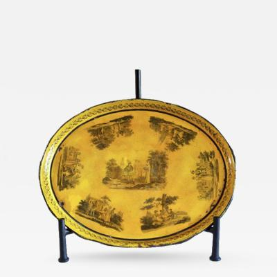 A Yellow Painted Tole Tray