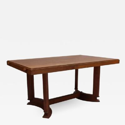 A fine French Art Deco Rectangular Oak Dining Table