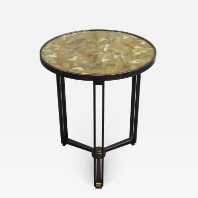 A fine limited edition Modernist bronze gu ridon