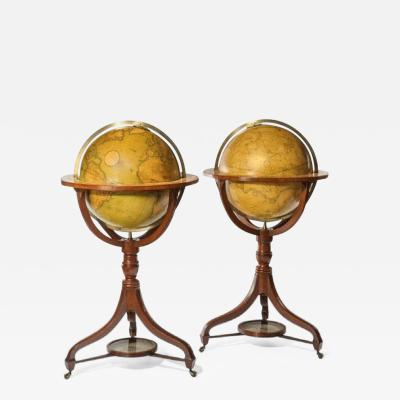 A fine pair of Cary s 18 floor standing library globes