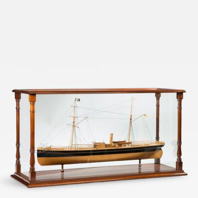 A fine shipyard model of a steamship