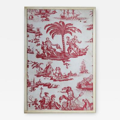 A framed toile de Jouy panel