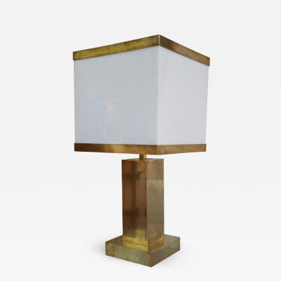 A gilded brass table lamp Italy 70