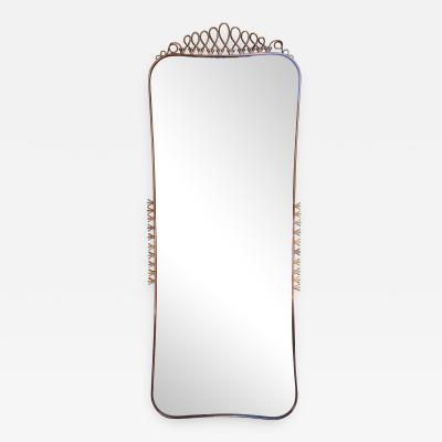A gilded brass wall mirror by Carlo Erba Italy 50