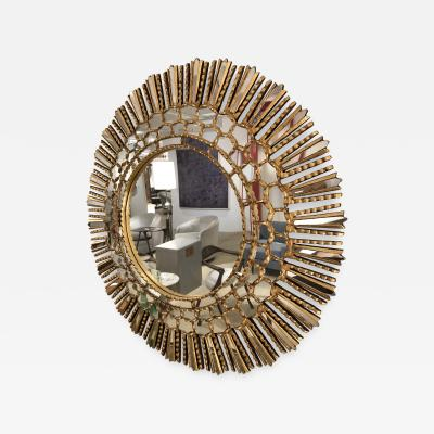 A gilt wood Starburst mirror