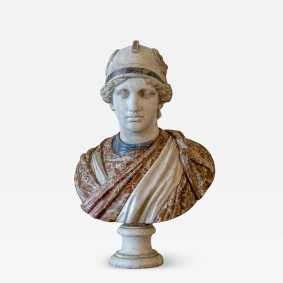 A late 18th century bust of Roma