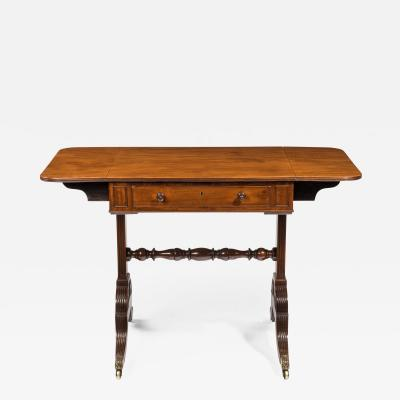 A late George III mahogany sofa table