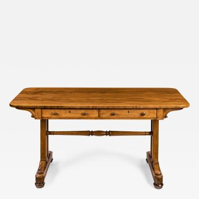 A late Regency rosewood end support table Gillows or Holland and Sons