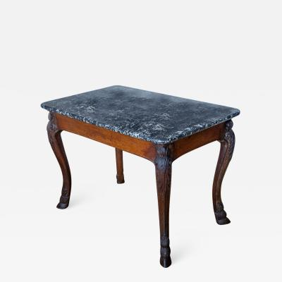 A marble topped table gibier