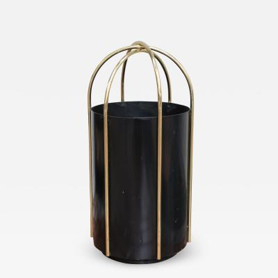 A metal and brass umbrella stand Italy 60