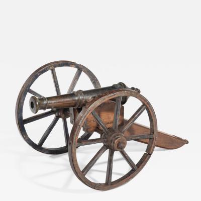 A mid Victorian model of a field cannon