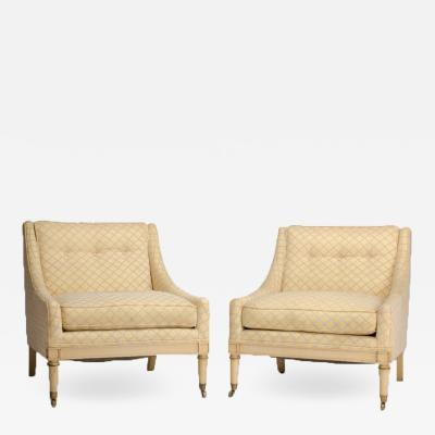A pair of Directoire style slipper chairs circa 1940