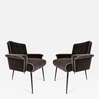 A pair of Italian armchairs Italy 50